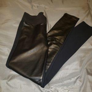Rock & Republic faux leather front leggings EUC